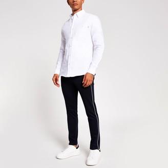 Mens River Island Maison Riviera White slim fit oxford shirt
