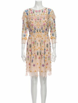 Needle & Thread Floral Print Knee-Length Dress w/ Tags