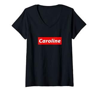 Womens Caroline - 90's Streetwear Y2K Outfit - Gift For Caroline V-Neck T-Shirt