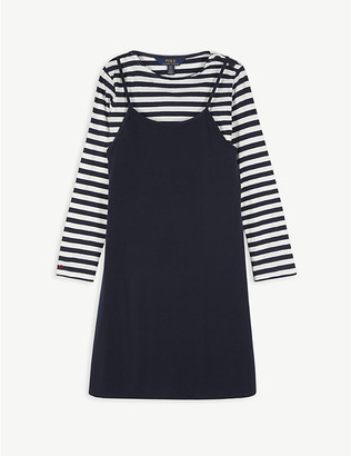 Ralph Lauren Striped woven top and A-line dress set 7-14 years
