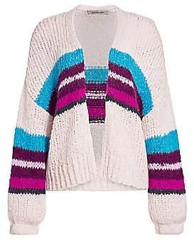 360 Cashmere Women's Izabel Stripe Open-Front Wool-Blend Cardigan