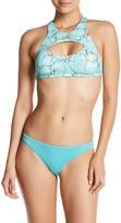 Reef Stone Print High Neck Bikini Top