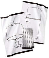 Martha Stewart Pencil Sketch Three-Piece Kitchen Towel Set