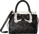 Betsey Johnson Womens Painted Floral Satchel