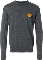 Moschino bear crest sweater - men - Virgin Wool - 46
