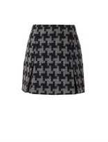 Carven Oversized hound's-tooth wool skirt