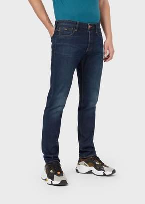 Emporio Armani Slim-Fit J75 Jeans In Selvedge Denim