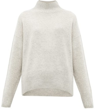 Allude High-neck Cashmere Sweater - Light Grey