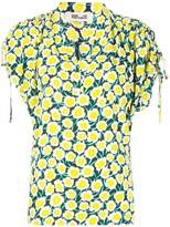 Diane von Furstenberg Daica ruched-shoulder blouse