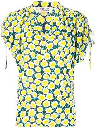 Dvf Diane Von Furstenberg Daica ruched-shoulder blouse