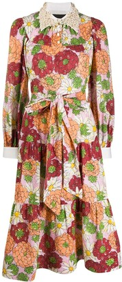 Marc Jacobs Floral Print Silk Dress