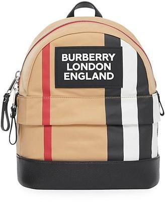 Burberry Small Nico Stripe Logo Backpack