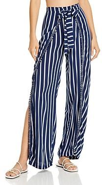 Peixoto Joan Striped Swim Cover-Up Pants