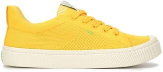 Cariuma IBI Low Sun Yellow Knit Sneaker