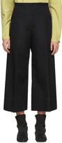 Lemaire Black Large Crop Trousers