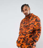 Puma Pullover Windbreaker In Camo Print In Orange Exclusive To Asos 57663602