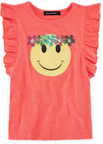 Almost Famous Graphic Tank Top w Flutter Sleeve - Girls' 7-16