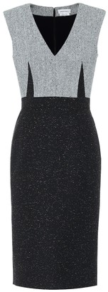 Alexander McQueen Wool-blend tweed shift dress