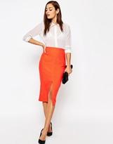 Asos Linen Pencil Skirt with Pocket Detail