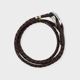 Paul Smith Men's Brown Leather Wrap Bracelet