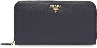 Prada Zipped Continental Wallet