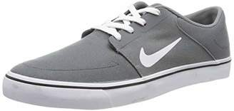 Nike SB Portmore CNVS - Skateboarding Trainers, Color Grey (Cool Grey/White-Black), Size 44