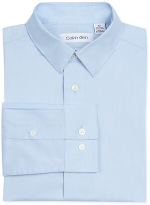 Calvin Klein Solid Stretch Poplin Shirt
