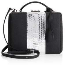 Mark Cross Women's Grace Small Leather Box Bag - Black Silver