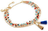 Rebecca Minkoff Beaded Tri Layer Bracelet