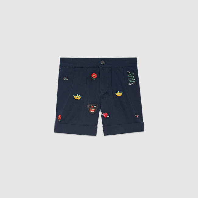 Gucci Children's embroidered bermuda short
