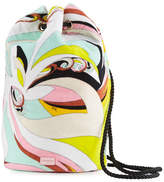 Emilio Pucci Waterproof Parrot-Print Terry Cloth Bucket Beach Bag