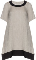 Isolde Roth Plus Size Cotton-linen blend dress