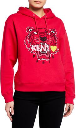 Kenzo Tiger Heart Logo Hoodie