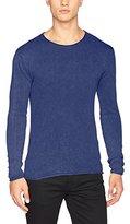 Solid !Solid Men's Knit - Gabe Regular Fit Crew Neck Long Sleeve Jumper - blue -