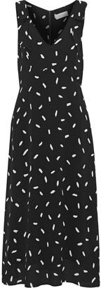 Zimmermann Bow-detailed Polka-dot Crepe Midi Dress