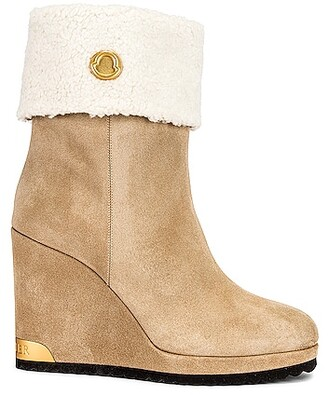 Moncler W Short Ankle Boot in Tan