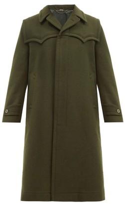 Gucci Western Wool Overcoat - Dark Green