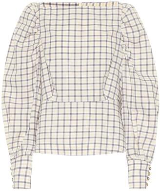 Baum und Pferdgarten Exclusive to Mytheresa a Maribelle checked cotton top