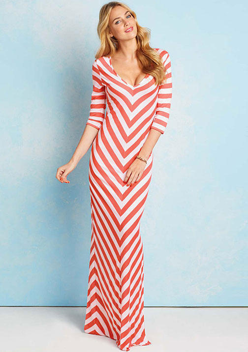 Blu Heaven Teresa Stripe Maxi Dress