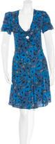 Saint Laurent Floral-Print Shift Dress w/ Tags