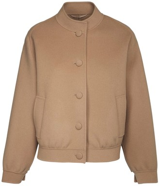 Max Mara Double Wool Bomber Jacket