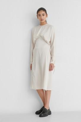 NA-KD Open Back Side Slit Dress