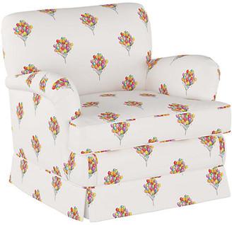 Gray Malin X Cloth & Company Balloon Bouquet Kids' Chair - White