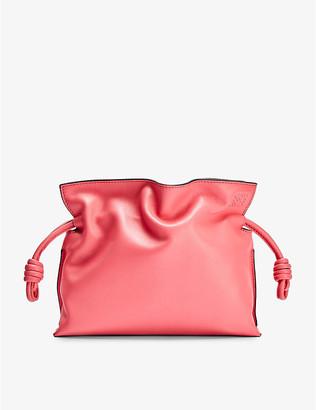 Loewe Flamenco Knot mini leather clutch