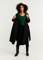 MANGO – Ribbed knit sweater green – XS – Women
