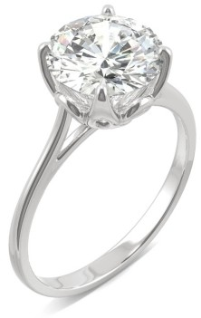 Charles & Colvard Moissanite Round Solitaire Ring (2-3/4 ct. tw. Diamond Equivalent) in 14k White Gold