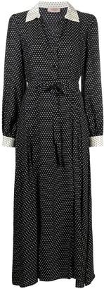 Twin-Set Polka-Dot Shirt Dress