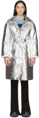Ienki Ienki SSENSE Exclusive Silver Woolmark Mac Coat