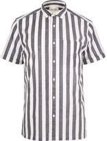 River Island White Pyjama Stripe Short Sleeve Shirt