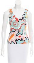 Emilio Pucci Abstract Print Sleeveless Top